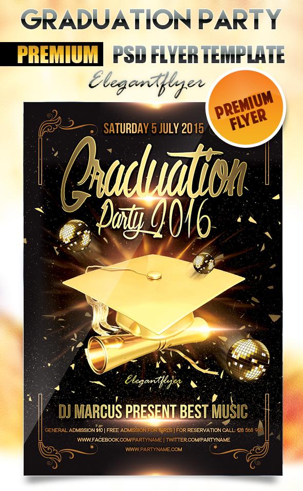 12 Graduation Templates Free PSD Images - Graduation Party ...