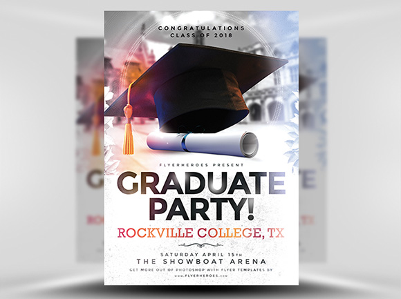 Graduation Party Flyer Template Free