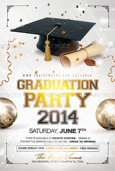 12 Graduation Templates Free PSD Images