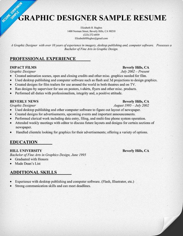 graphic design resume sample - Graphic Design Resume Samples