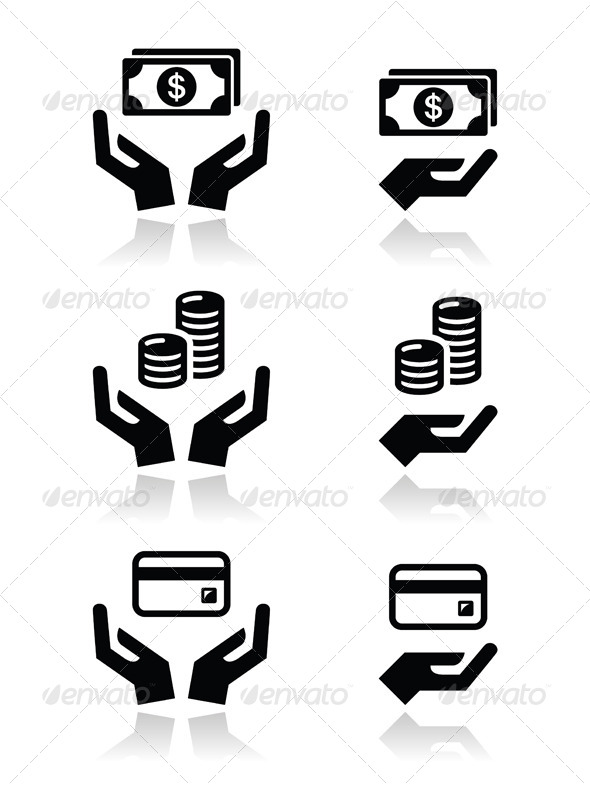 15 Hand With Money Vector Images