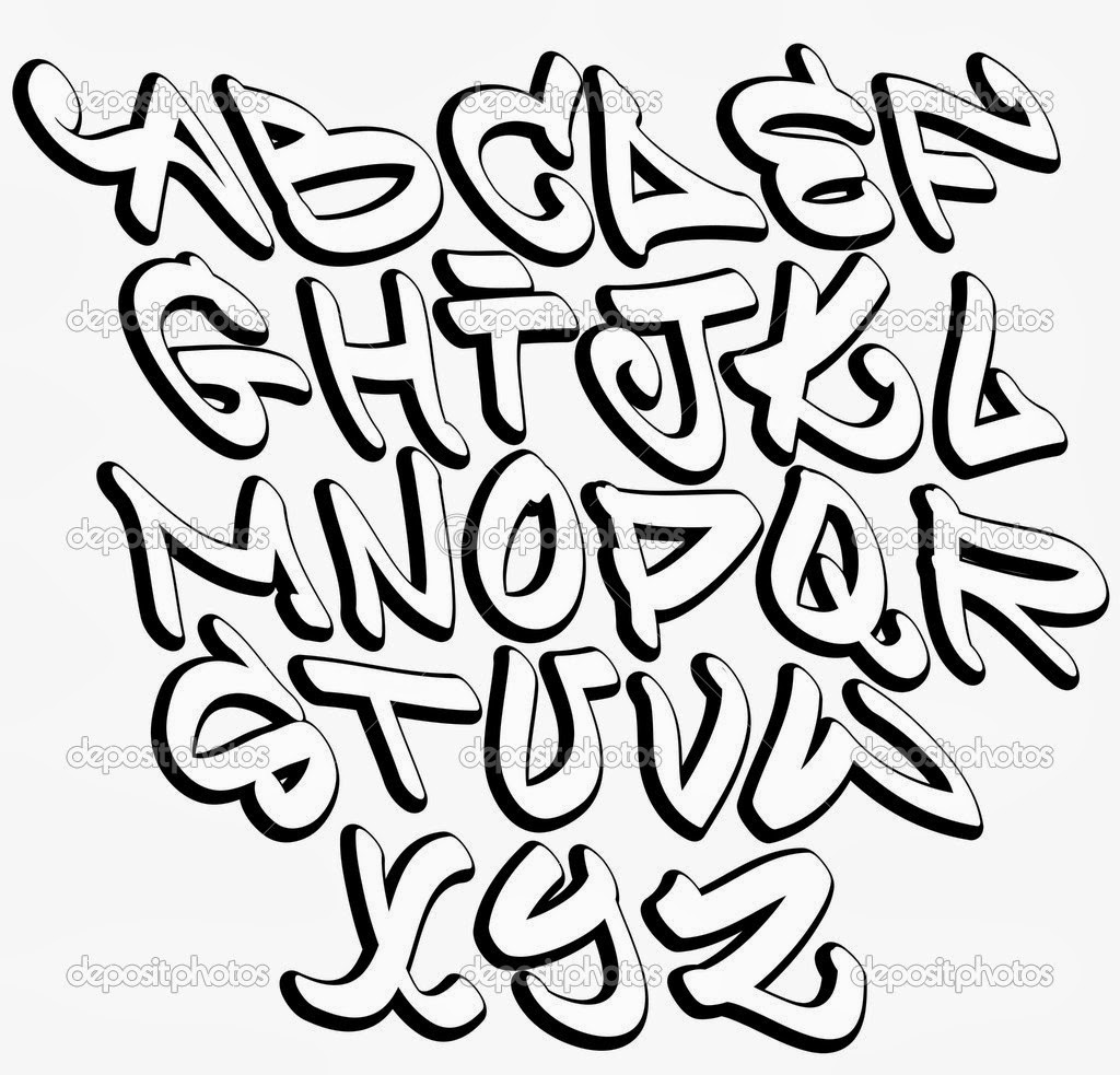 15 Graffiti Alphabet Fonts Images
