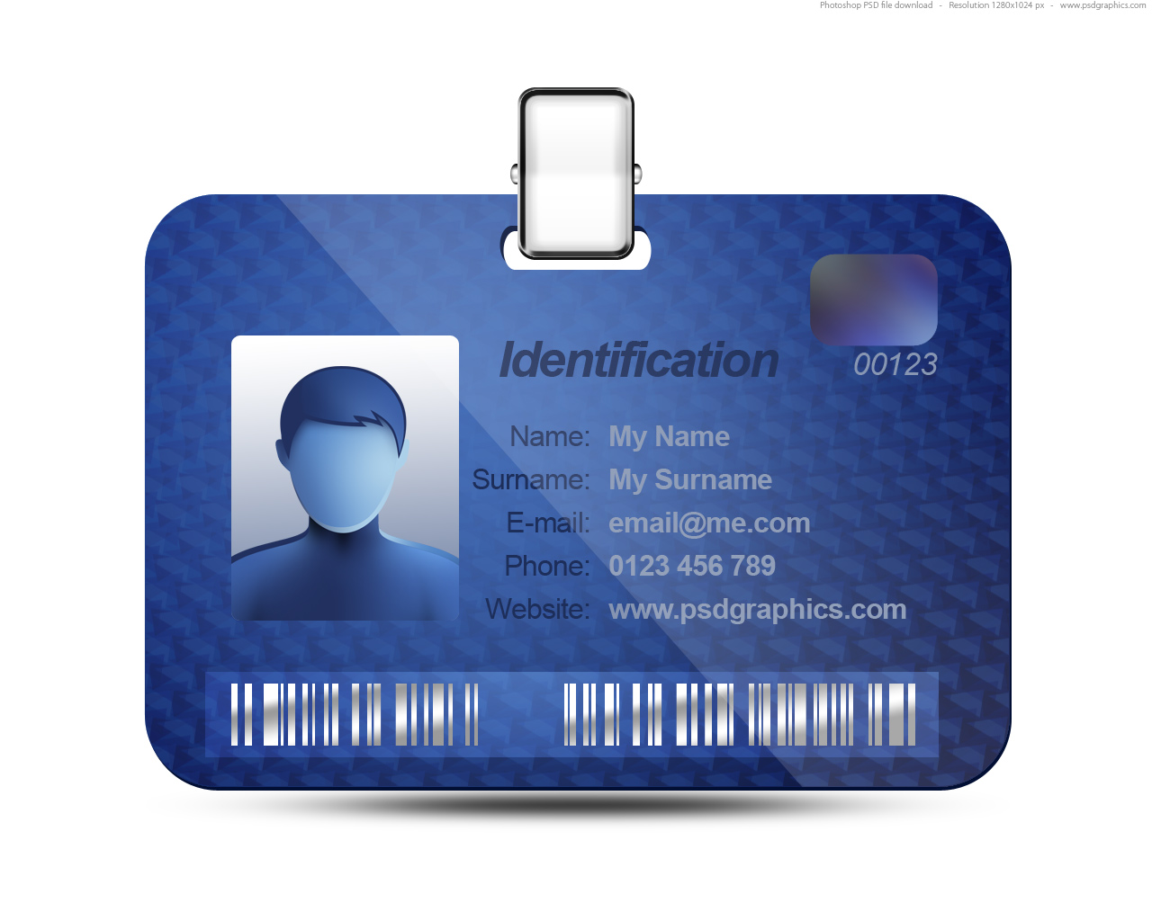 ID Name Tag Template