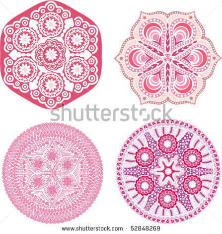 10 Indian Floral Ornament Vector Images