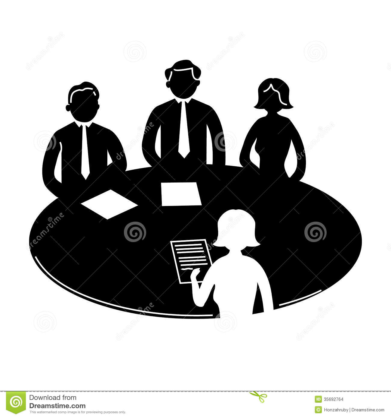 Infographic Business Icon People Meeting Table Black