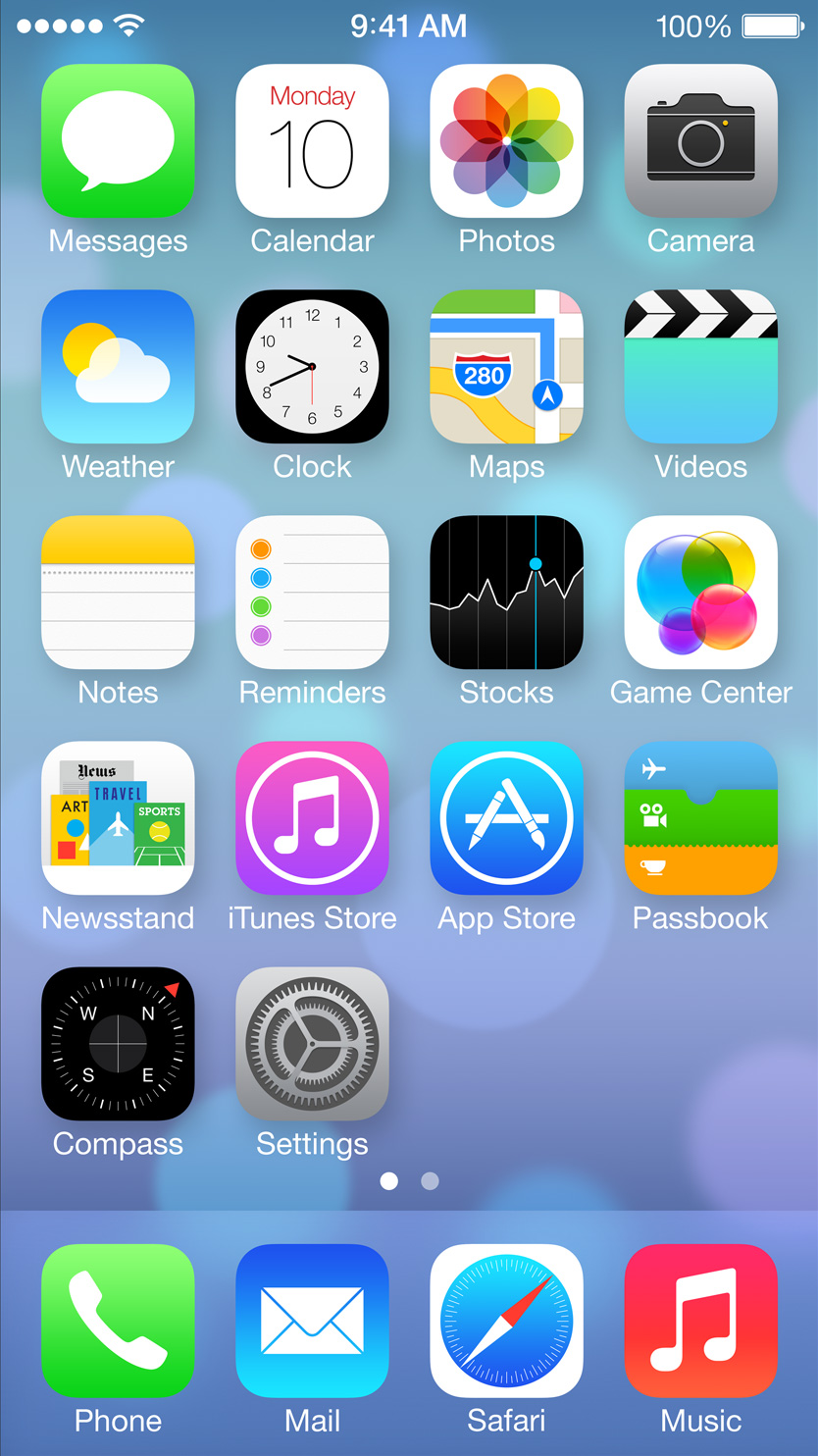 iPhone Home Screen iOS 7
