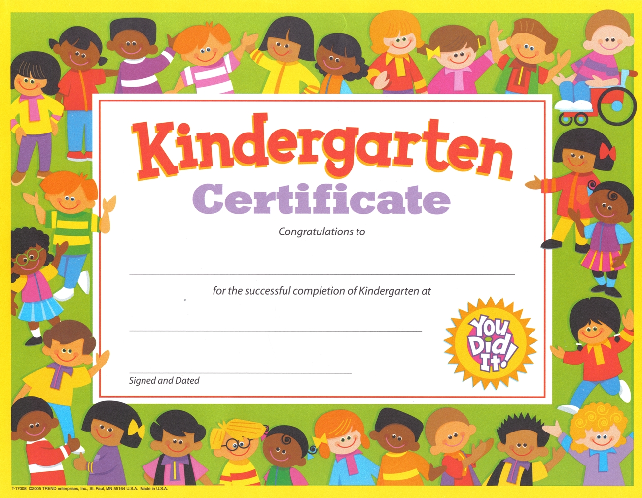 Kindergarten Certificates Printable