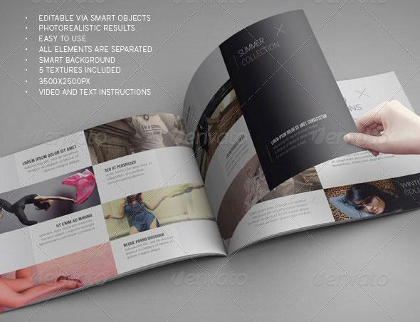 Landscape Brochure Mockup Psd Free