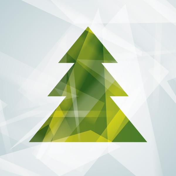 Modern Christmas Tree Graphic