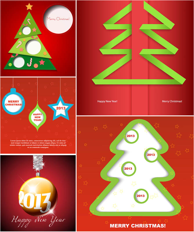 Modern Christmas Tree Vector Art