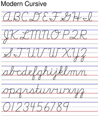 15 Modern Cursive Font Images