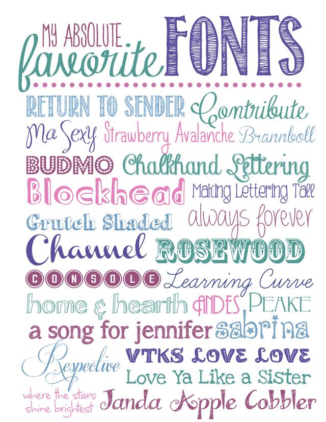 10 My Favorite Chalkboard Fonts Images