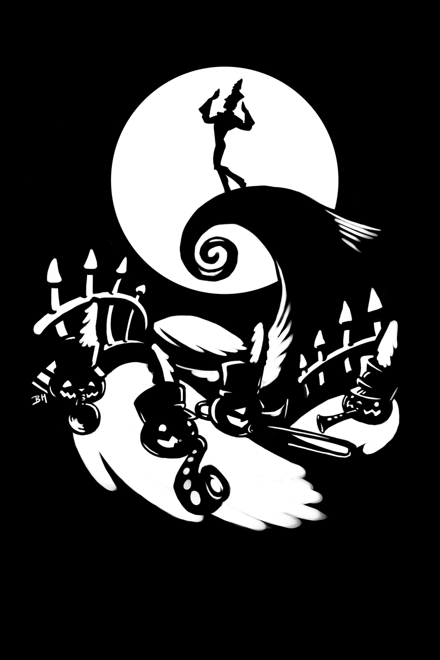 14 Nightmare Before Christmas Frame Vector Images - Jack Skellington ...