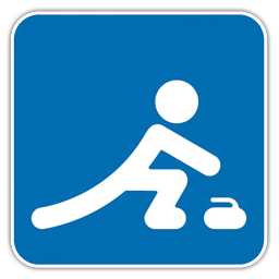 Olympic Curling Icon