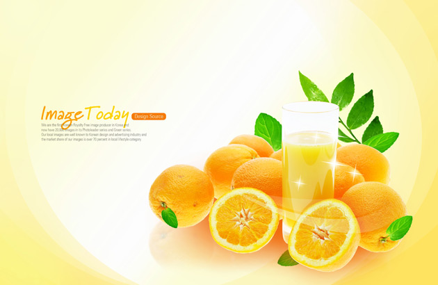 12 Orange Juice PSD Images