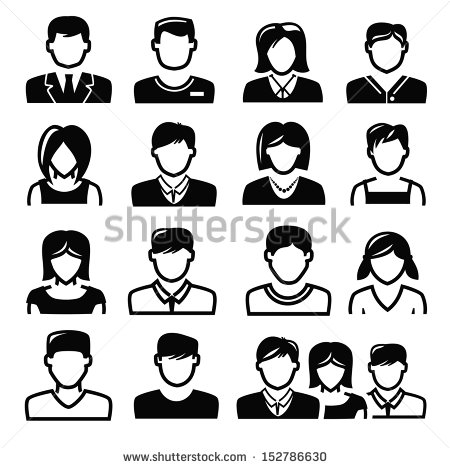 People Icon Black White