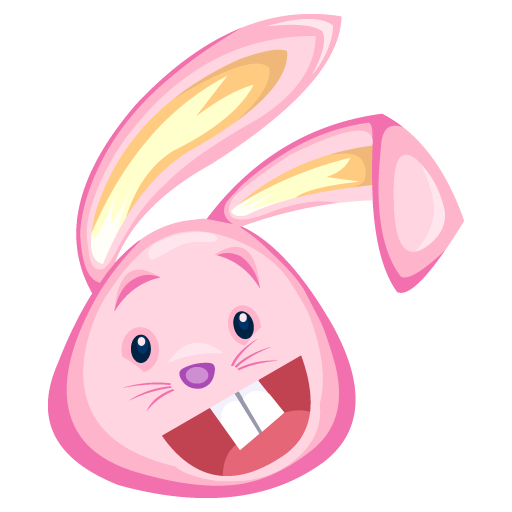 Pink Cartoon Bunny Rabbit