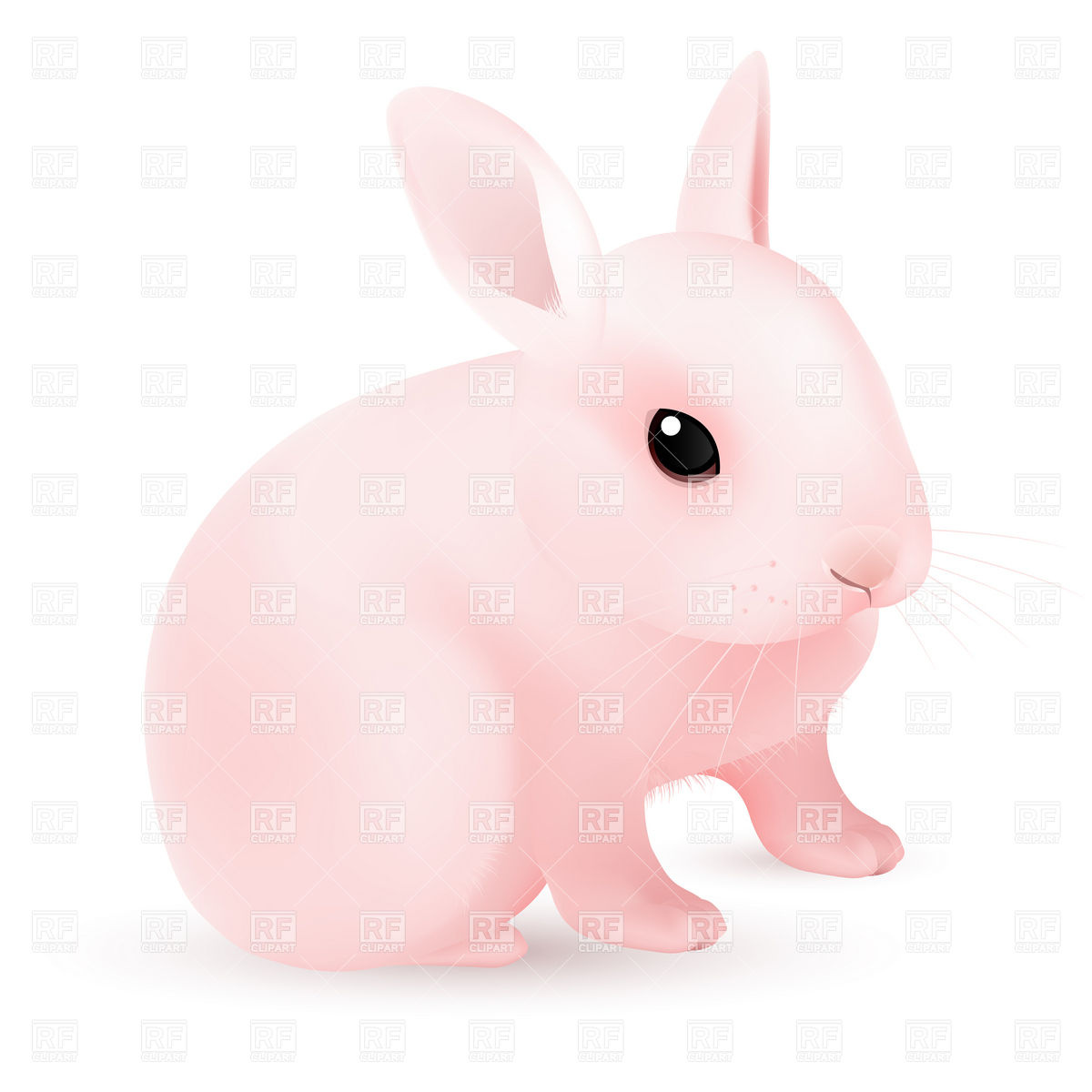 18 Pink Easter Bunny Vectors Images