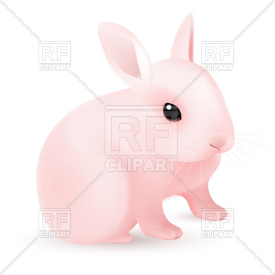 Pink Easter Bunny Clip Art