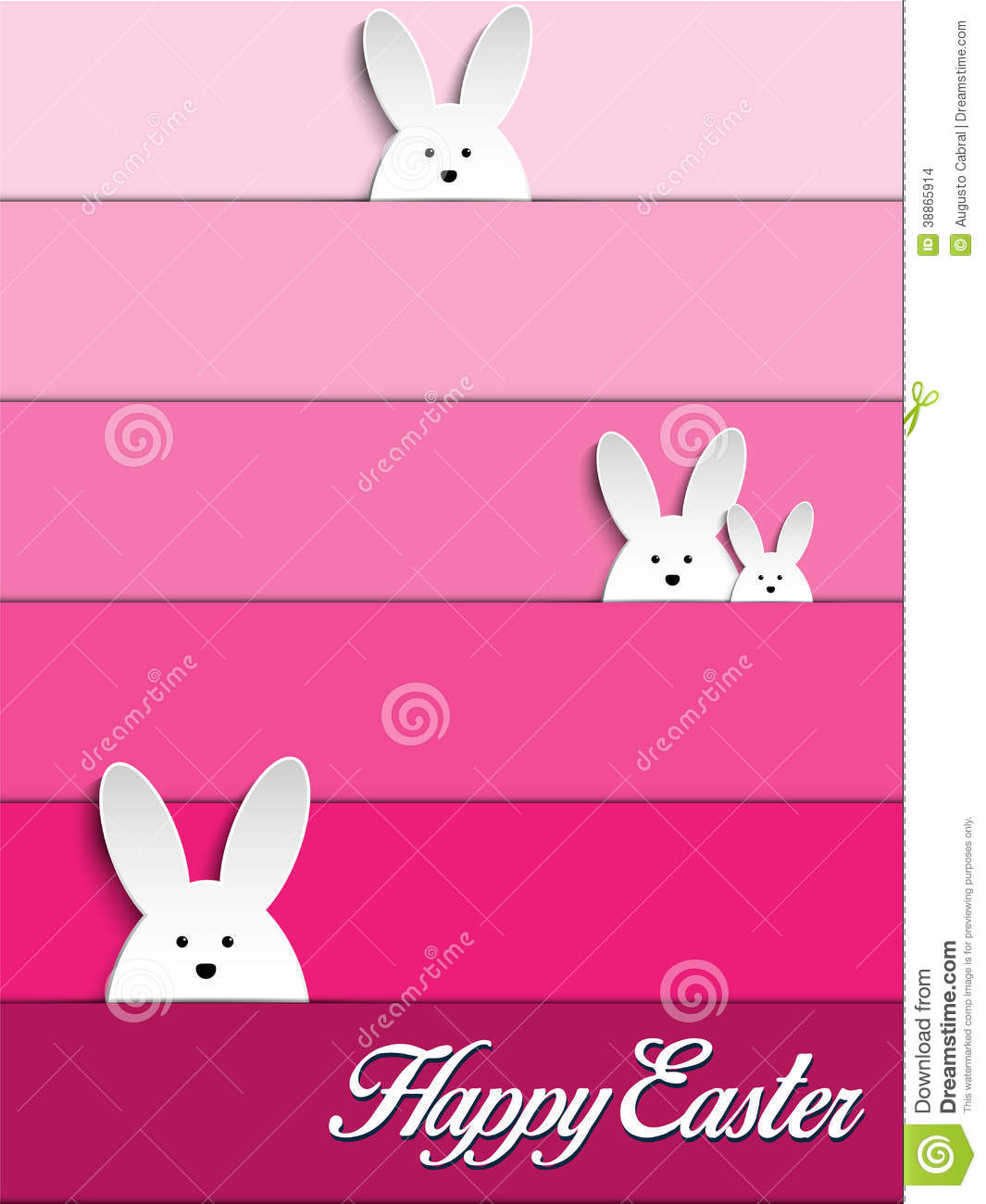 Pink Happy Easter Bunny