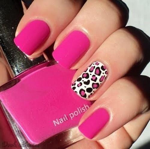 Гламурные розовые ногти