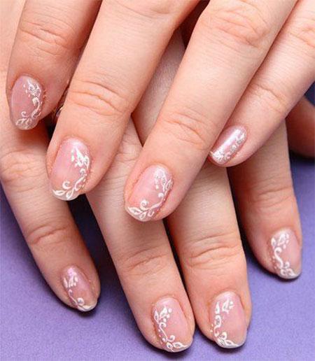 Pink Wedding Nail Art Designs
