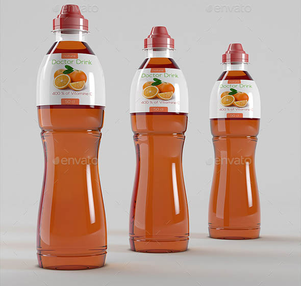 Plastic Bottles Energy Drinks