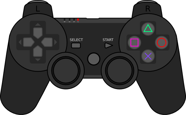 PlayStation Game Controller Clip Art
