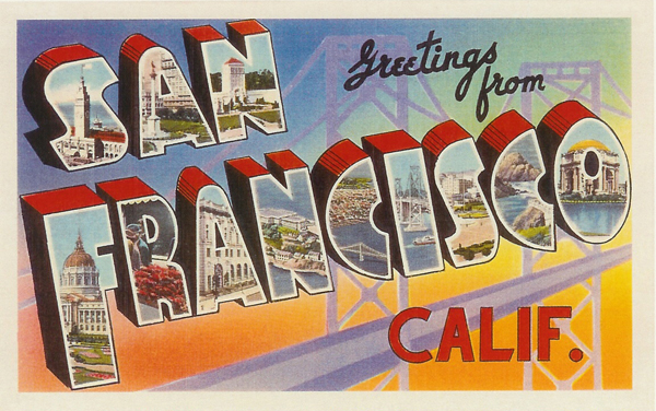 Postcard Greetings From San Francisco