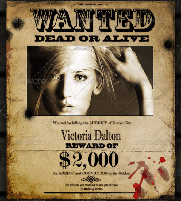 Real Wanted Poster Template Free