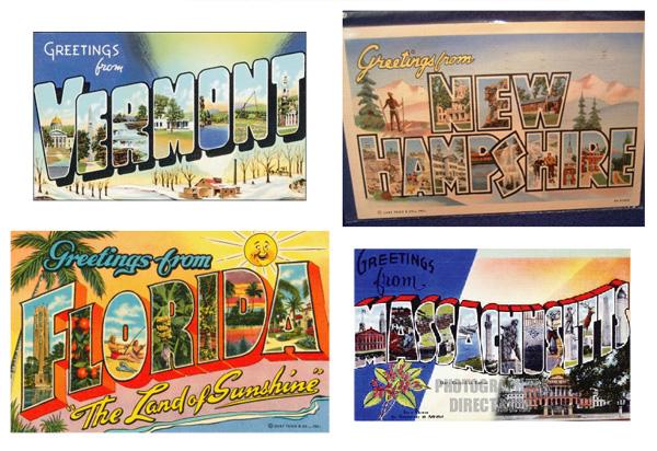 Retro Vacation Postcard Font