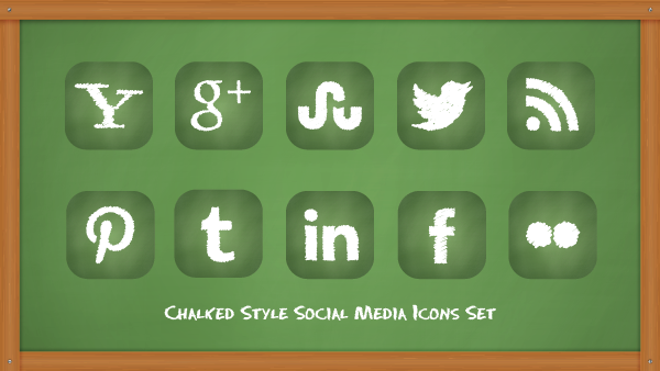 7 Free Chalkboard Icon PSD Images