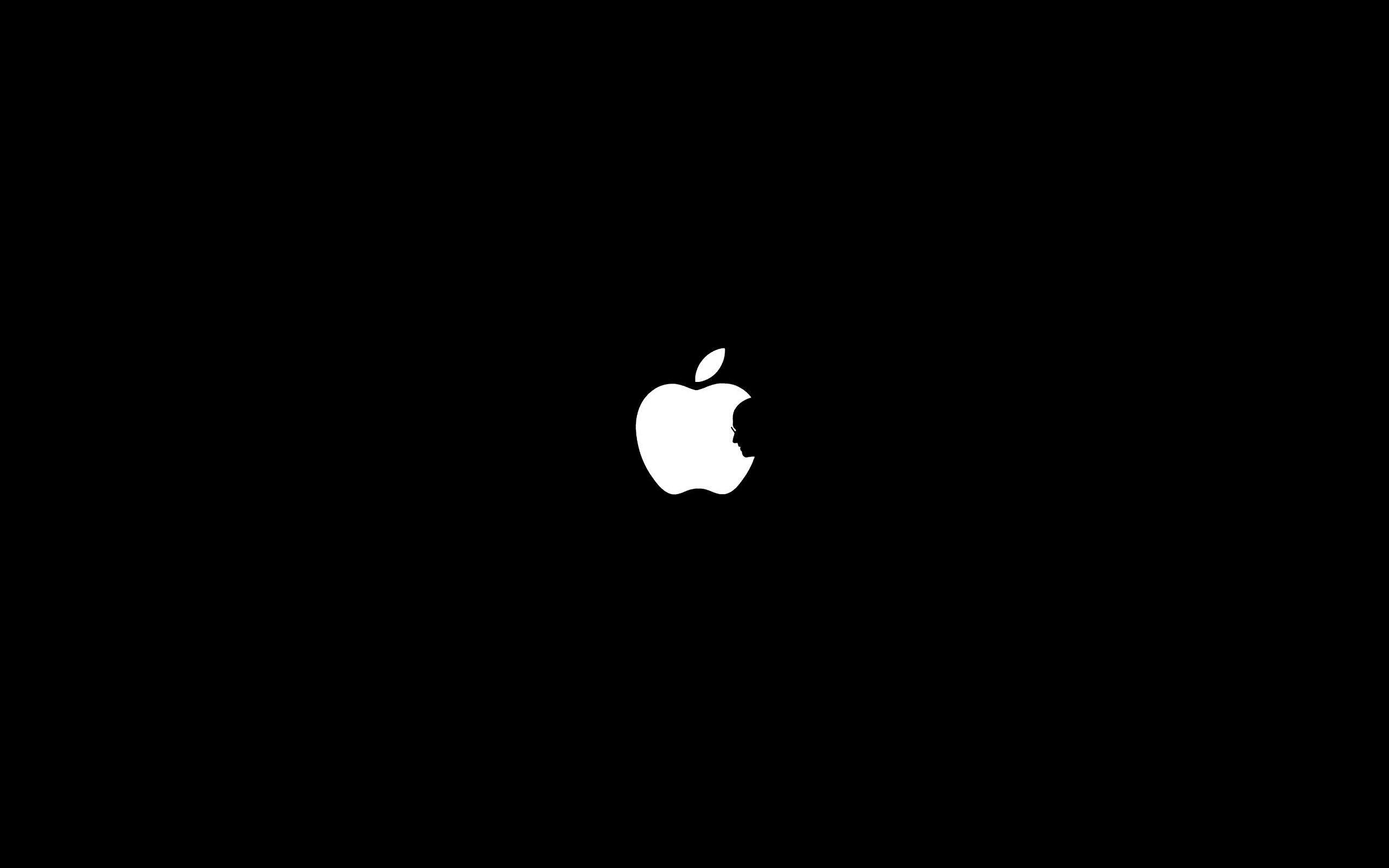Steve Jobs with Apple Logo