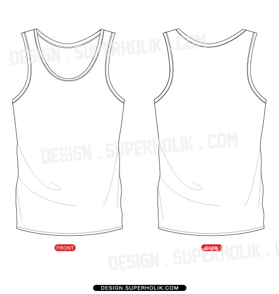 16 Tank Top Vector PSD Images