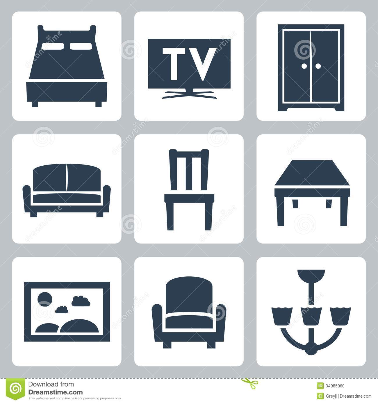 Vector Furniture Icons