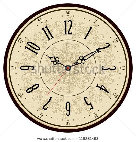 13 Vintage Clock Face Vector Images