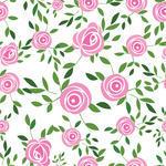 10 Vintage Pink Rose Vector Flourishes Images