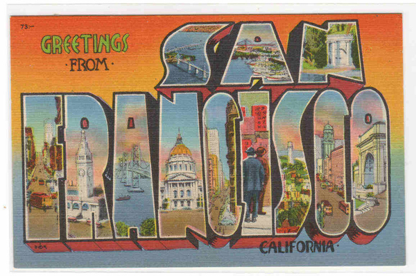 Vintage Postcard San Francisco