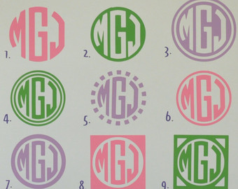 Vinyl Circle Monogram Font Downloads