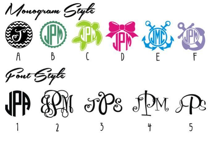 Vinyl Cutter Monogram Fonts