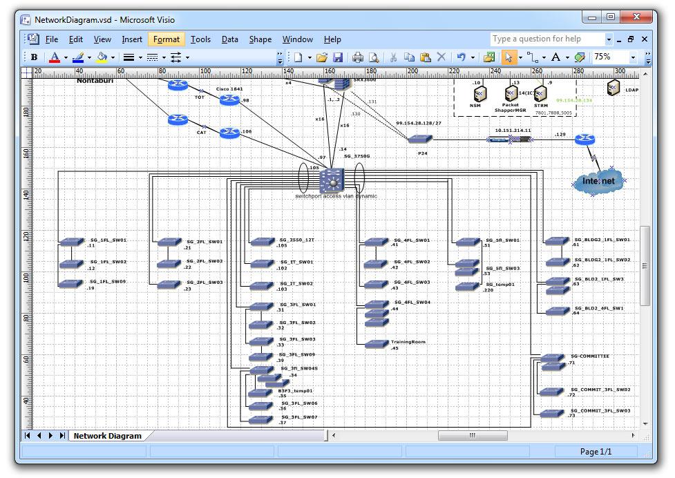 Visio Network Diagram Samples