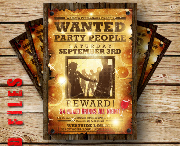 Wanted Flyer Template Free