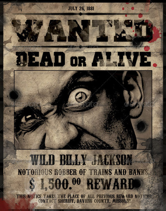 Wanted posters templates free for word