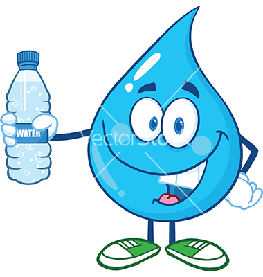 Water Drop Cartoon Characters