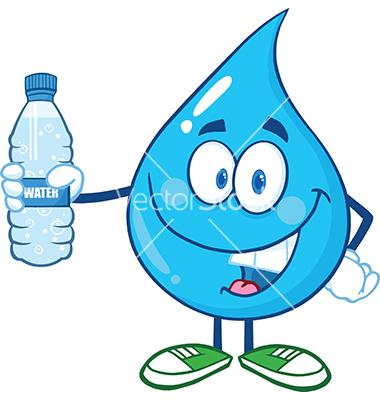 Water Drop Cartoon Characters