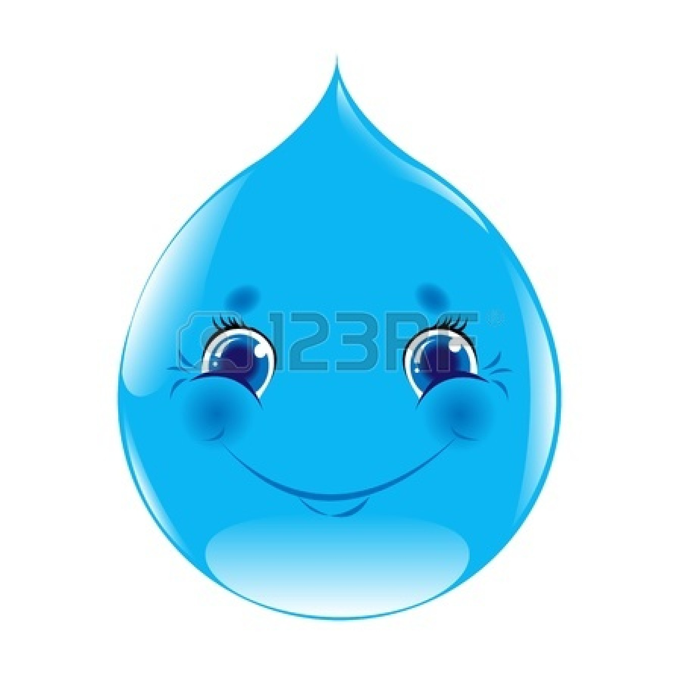 Water Droplet Cartoon
