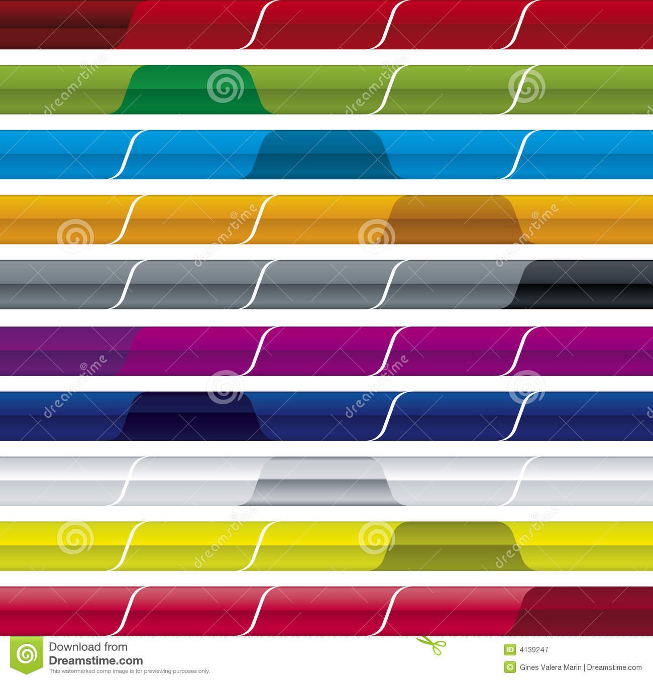 9 Vector Menu Bar Images