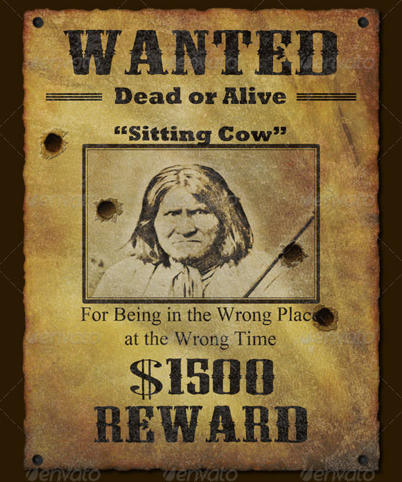 West Wanted Poster Template