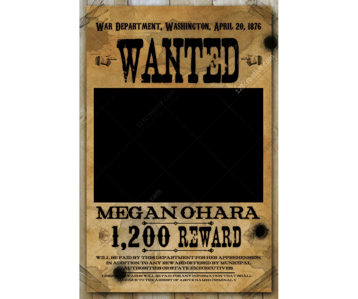18 Wanted Poster Template PSD Images