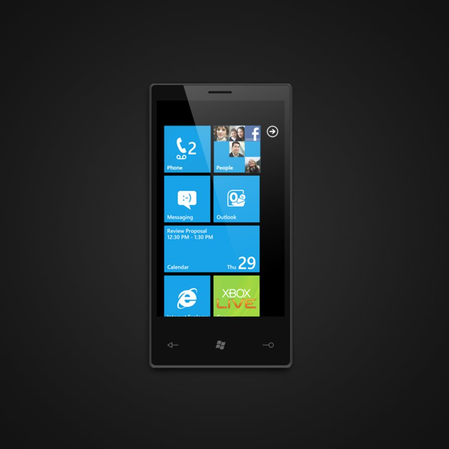 18 Windows Phone PSD Images
